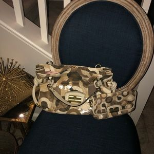 COACH Tan/Brown handbag w/ Wallet